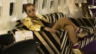 Taron Egerton shines - often literally - as Elton John in Rocketman.