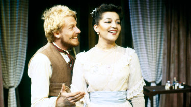 Richard Roxburgh with Christina Youhanna.