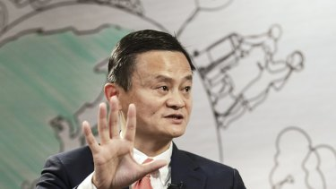 SoftBank also announced that Jack Ma had left its board.