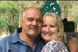 Sandra Muller is desperate to see her husband, who is alone in hospital in Townsville.