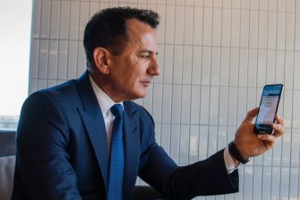George Frazis, demonstrating a product during his time at Westpac.
