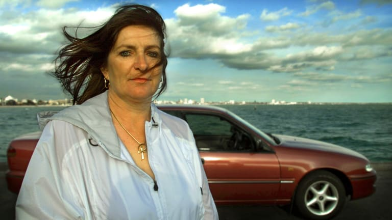 Wendy Peirce: Her husband Victor was murdered in the car in the background.
