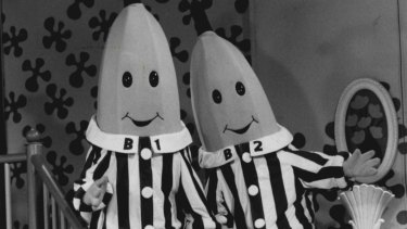 Bananas In Pyjamas, ABC TV's lovable characters B1 (left) and B2.