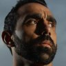 Adam Goodes posing after a training session in September 2012.