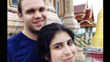 Matthew Hedges, pictured with his wife Daniela Tejada, said he was force-fed a cocktail of drugs.