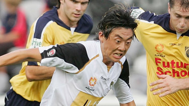 Naoki Imaya during his brief time with the now-defunct New Zealand Knights in 2006.