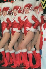 "The Rockettes from New York's Radio City strike ""that pose""."