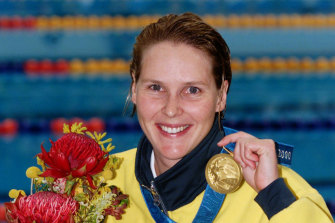 """""""Madame Butterfly"""" Susie O'Neill won gold in 200m freestyle at the Sydney Olympics."""