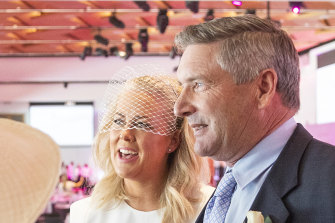 Sunrise host Samantha Armytage and new husband Richard Lavender.