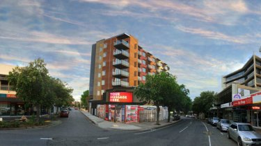 The proposed development is eight-storeys and would have 72 apartments.