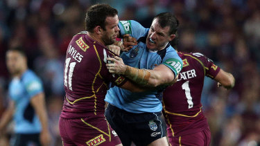Paul Gallen will talk to the Waratahs about what the NSW-Queensland rivalry means to him.