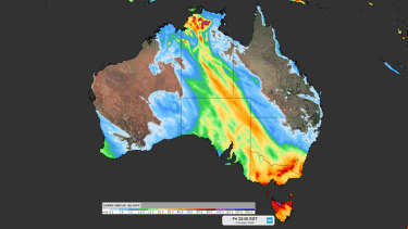 Forecast of accumulated rain between Tuesday and Friday.