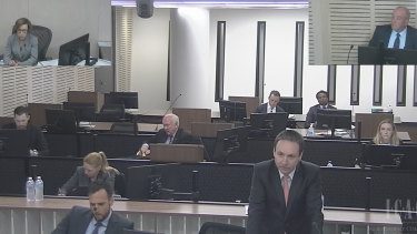 Daryl Maguire in the ICAC witness box on Wednesday.