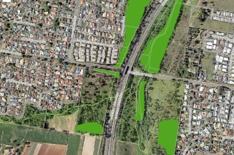 The site, seen to the west of the Gateway Motorway and south of Underwood Road, is covered by a large portion of environmental significance overlays.