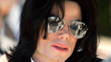 Michael Jackson during his June 2005 trial on child molestation charges.