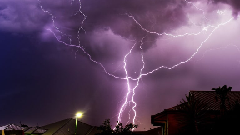 The light show created by south-east Queensland storms on Wednesday night.