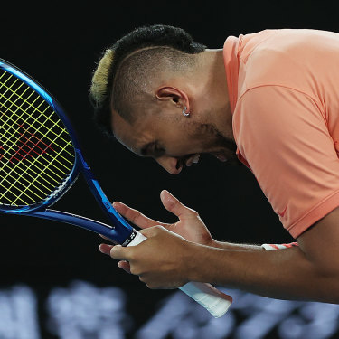Nick Kyrgios' competitive nature often spills over on court.