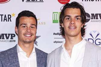 Jack and Ben Silvagni have been punished by the leadership group for drinking alcohol while recovering from injuries.