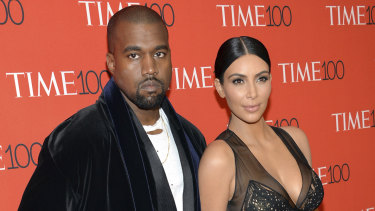 Kanye West and Kim Kardashian West in 2015.