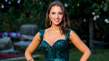 Jamie-Lee Dayz makes her entrance on The Bachelor on Wednesday night.