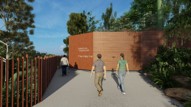 An updated artist's impression of the proposed odour control unit at Wolli Creek.