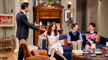 The cast of <i>Will & Grace</i>: Eric McCormack (left), Debra Messing, Sean Hayes and Megan Mullally.