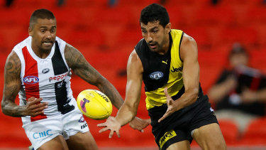Eye of the Tiger: Richmond's Marlion Pickett is into his second AFL premiership decider.