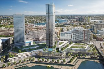 Mirvac has been ordered to shrink its proposal (pictured) to redevelop the shopping centre with new shops, offices and a residential tower.