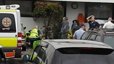 """The scene at the Caboolture school was described as """"chaos"""" by emergency services."""