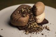 Chocolate, cashew, Milo, malt ice-cream served at Bea restaurant in Barangaroo, Sydney.