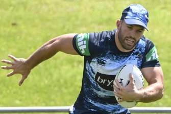 James Tedesco has passed a fitness test to be fit for Origin I.