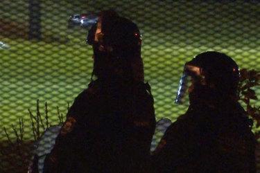Riot five-o outside theFrank Baxta Juvenile Justice Centre.