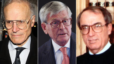 Former High Court judge Dyson Heydon, Former chief justice of the High Court Murray Gleeson and Former High Court judge Michael McHugh.