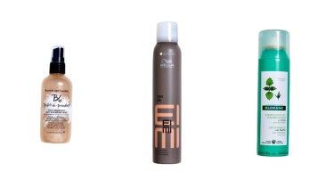 Bumble and Bumble Prêt-à-Powder Post Workout Dry Shampoo Mist, $46. Wella EIMI Dry Me Shampoo, $20. Klorane Dry Shampoo With Nettle, $16.