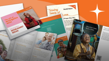 World Vision is a huge user of printed material to communicate with its donors.