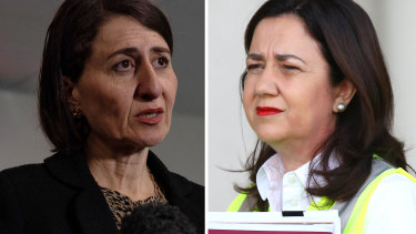 NSW Premier Gladys Berejiklian and Queensland Premier Annastacia Palaszczuk were at odds over the reopening of their states' border.