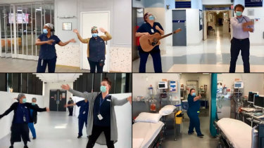 "The Royal Melbourne Hospital ""scrub choir"" sings 'I'll Stand by You'"
