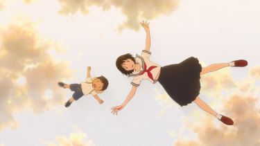 A grown-up version of Mirai appears in Kun's visions.