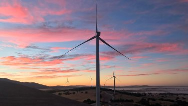 The new turbines will be around 100 metres taller than those at the Ararat wind farm in western Victoria.