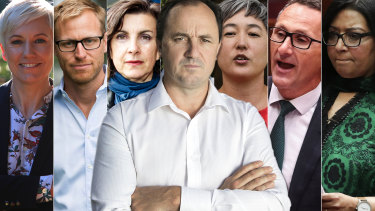 Jeremy Buckingham, centre, has divided the Greens.