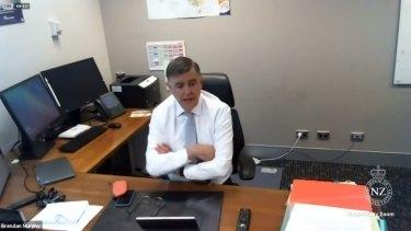 Chief Medical Officer Professor Brendan Murphy speaking toNZ Parliament via video conferencing.