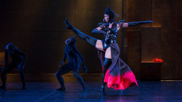 The exquisite detail of Gaultier's costumes is largely lost.