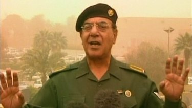 Mohammed Saeed al-Sahhaf, known as Comical Ali, kept broadcasting as the bombs fell during the invasion of Iraq in 2003.