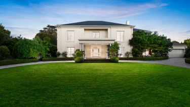 The former Mowbray mansion at 18 St Georges Road in Toorak.