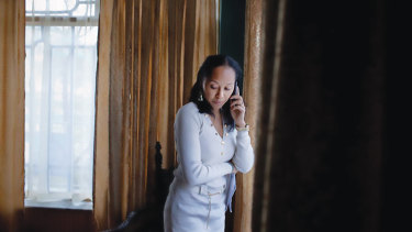 US lawyer Kimberley Motley in her office in Kabul.