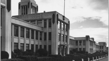 The art-deco administration building in 1963.