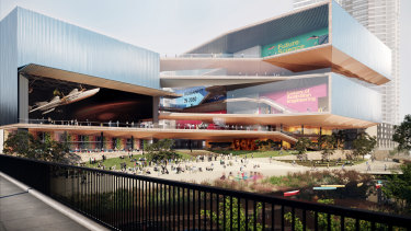 AL_A and Architectus' shortlisted design.