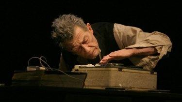 The legendary John Hurt in Krapp's Last Tape.