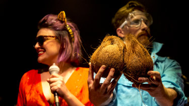 Coconuts get a memorable role in the course of the play.