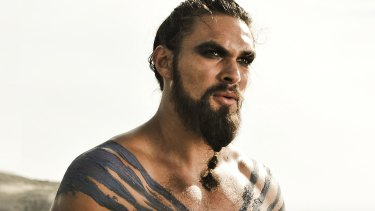 Jason Momoa as Khal Drogo in Game Of Thrones.
